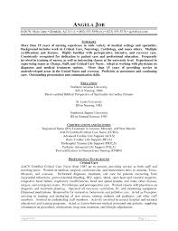 Neuro Nurse Resume Free Resume Example And Writing Download