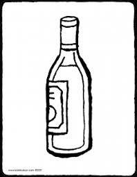 Kleurplaat Wijnfles
