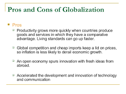 anti globalization in the world pros and cons of globalization