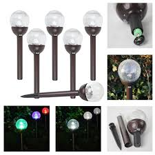Glass That Changes Color In Light 6 Piece Crackle Glass Globe Color Changing White Led Solar