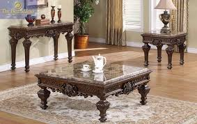 end tables square marble tops ornate design