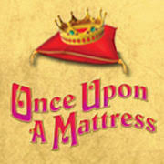 once upon a mattress logo. view larger image next » once upon a mattress logo r