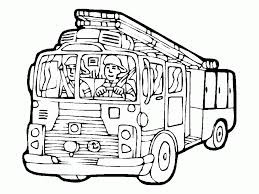 Small Picture Coloring Pages Free Printable Fire Truck Coloring Pages For Kids
