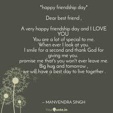 Happy Friendship Day D Quotes Writings By Manvendra Singh
