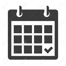 Black Calendar Icon Isolated On White Royalty Free Cliparts Vectors
