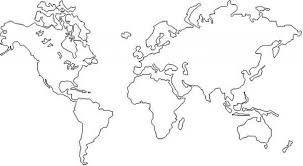 Small Picture Map Of The World Coloring Page regarding Inspire in coloring page