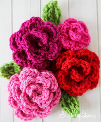 Free Patterns For Crochet Delectable Free Easy Rose Crochet Pattern Skip To My Lou