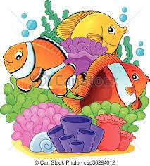 coral reef fish drawing. Delighful Fish Intended Coral Reef Fish Drawing N