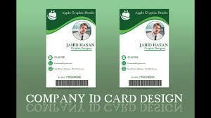 Ii Company Cc info Design Card Id Oukas Photoshop 2018 Tutorial - Youtube