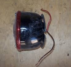 the complete vintage travel trailer restoration web site out side here is a picture of a typical tail light it has 2 wires coming out of it 1 wire is for the turn brake lights and 1 is for the tail lights