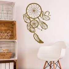 Dream Catchers Furniture Dream Catcher Wall Decal Gold Dreamcatcher Wall Stickers Hippie 64