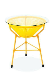 resin outdoor side table ls scoop outdoor side table w glass top protected resin suncast elements