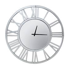 sweet ideas mirror wall clock awesome mirrored clocks by z gallerie decals grand round cm dia