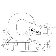 Letter C Cow Coloring Page Bubble Letter C Coloring Page. Kids ...