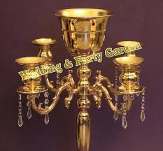 free gold wedding table crystal chandelier wedding flower vase event party decoration in candle holders crystal chandelier party decorations