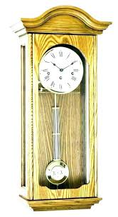 large pendulum wall clocks oak light extra