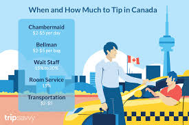 Restaurant Tipping Guide Chart Tipping In Canada Who When And How Much
