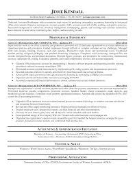 Full Charge Bookkeeper Resume Sample Free Resume Example And