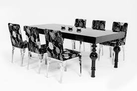 High Gloss Dining Table Nayri Transitional Black High Gloss Dining Table
