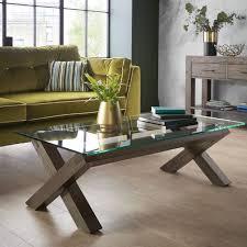 turin dark oak glass top coffee table