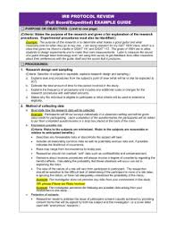 irb protocol review example guide irb cover letter sample
