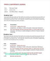 Agenda Examples Unique Simple Meeting Agenda Template New 48 Sample Conference Press Script