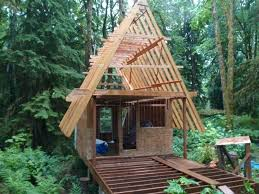how to build a small cabin with a loft small a frame cabin plans my a