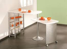 Table De Cuisine Contemporaine Modulable Blanche Sacha Matelpro
