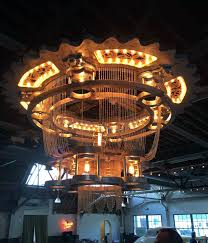 picture of the packard chandelier i made it at tech