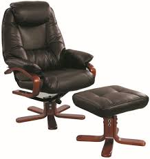Leather Swivel Chairs For Living Room Buy Gfa Macau Chocolate Bonded Leather Swivel Recliner Chair