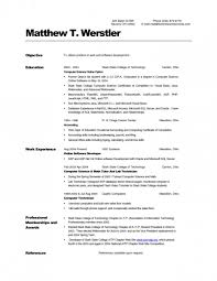 Computer Science Resume Sample For Engineering Students