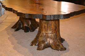 trunk table furniture. lodge dining table cabin tables rustic tree stump hand carved trunk furniture