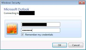 Outlook login/windows security pops up every time - Super User