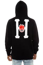 spitfire hoodie black. the huf x spitfire classic h pullover hoodie in black