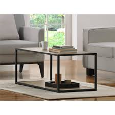 Ameriwood Home Canton Coffee Table with Metal Frame, Distressed Gray Oak -  Walmart.com