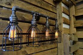 industrial lighting bathroom. Bathroom Exciting Industrial Lighting Vintage Fixtures Vanity Lights Ikea Also Light Fixture With Cage Bulb