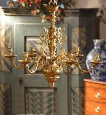 18th century brass chandelier r14692