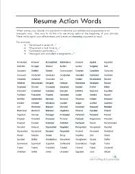 Resume Verbs New List Of Action Verbs For Resumes Kenicandlecomfortzone