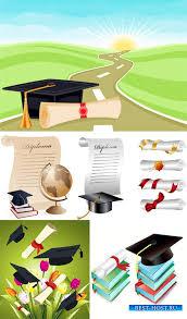 Векторный клипарт Окончание школы и дипломы Шаблоны для  Векторный клипарт Окончание школы и дипломы