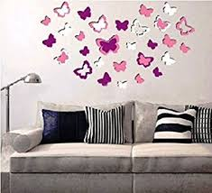 Small Picture Buy Sunboy Butterfly Shaped 3D Easy to Peel Self Adhesive Wall