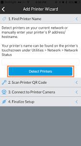qr detect add a printer robo help center