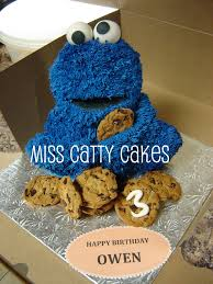 Cookies And Cakes By Design Owens Cookie Monster Birthday Cake Miss Catty Cakes Cake