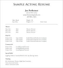 Acting Resume Templates Magnificent Sample Child Actor Resume Template 40 Reasons You Need A Ghostwriter