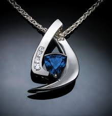 london blue topaz necklace argentium silver white sapphires contemporary jewelry december birthstone 3369