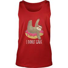 funny sloth doughnut shirt sloth apparel sloth gifts uni tank top
