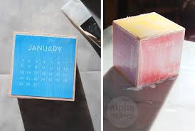 start the new year with a block calendar diy modge podge