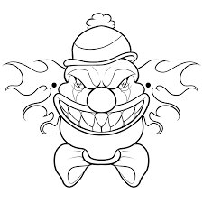 Leuk Voor Kids Gemene Clown Masker
