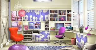 Home office colorful girl Canvas Colorful Teen Haven Aliexpress Custom Home Offices Gallery Designed By Closet Factory
