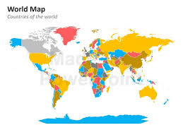 Editable World Map For Powerpoint Powerpoint World Map Editable World Map Editable Powerpoint Maps