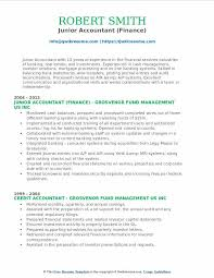 Resume Format Junior Accountant India The Best Template